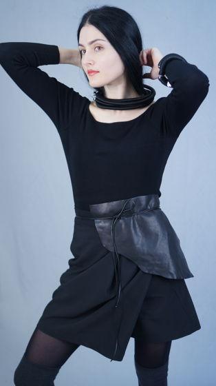 шорты с запа́хом | черные