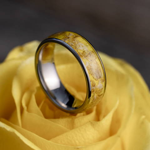 flower ring titanium petals