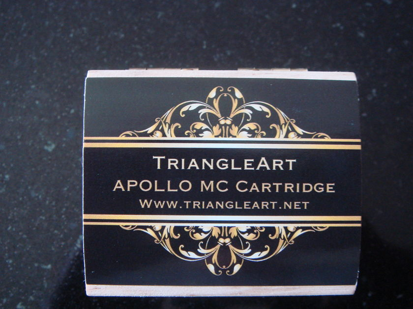 TRIANGLE ART APOLLO MOVING COIL PHONO CARTRIDGE – BRAND NEW -  NEVER TAKEN OUT OF ITS WOODEN BOX - ONE OF THE BEST AT ANY PRICE