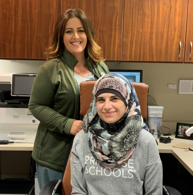 Ms.Monica and Ms.Ayah sitting in the Directors office of Primrose School of Willow Glen
