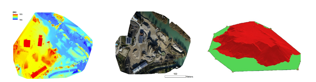 Elevation data, volumetric measurements and more can all be created to optimize the efficiency of job sites. Courtesy of Pix4D