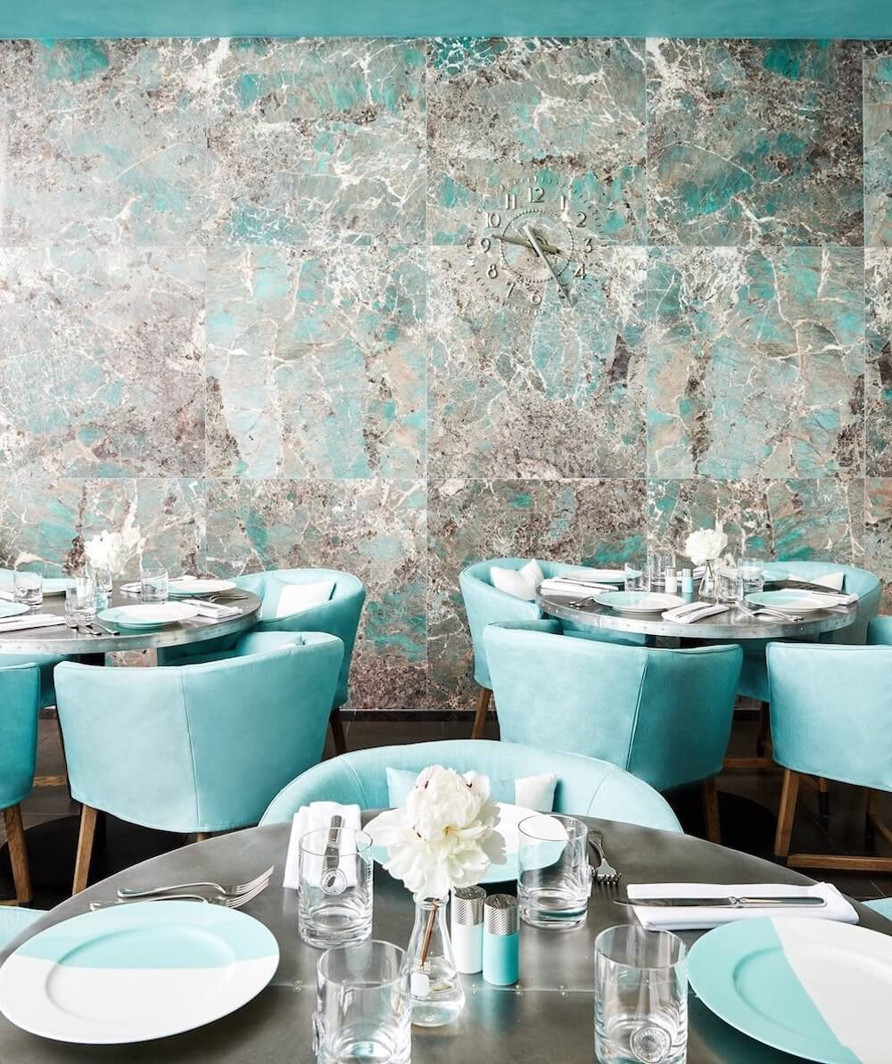 Tiffany & Co. Blue Box Cafe Interior