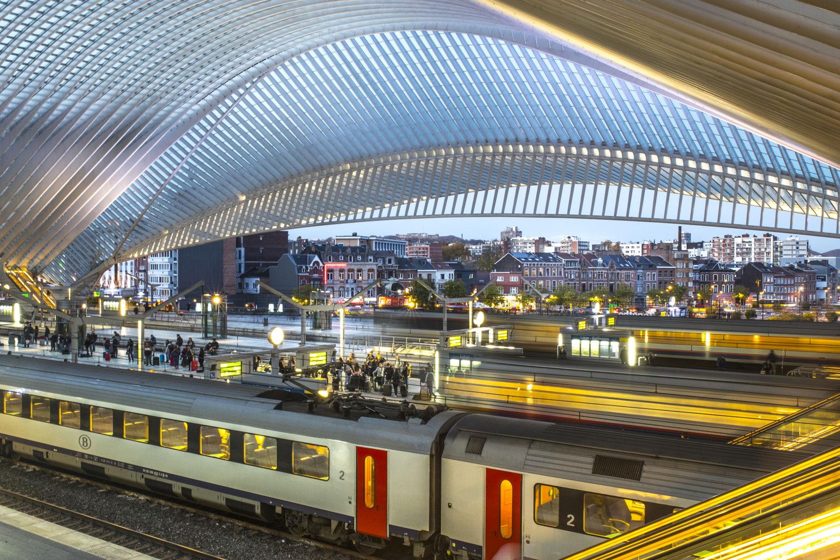 Station Luik, waar straks de Drielandentrein tussen Aachen, Maastricht en Luik, ook stopt.