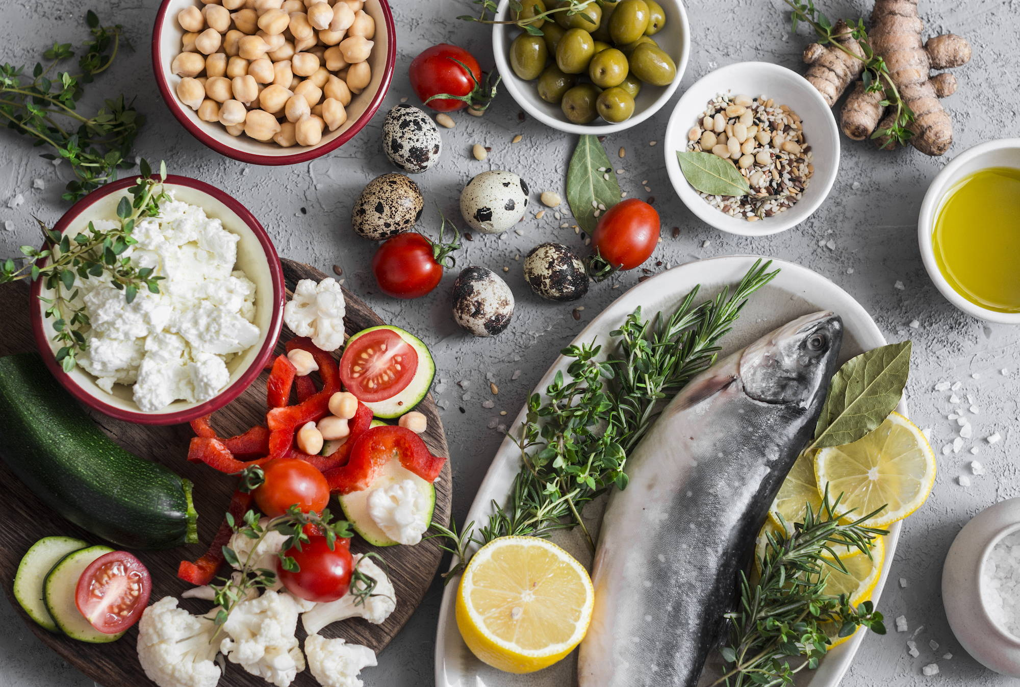 A Mediterranean type diet is recommended when trying to conceive