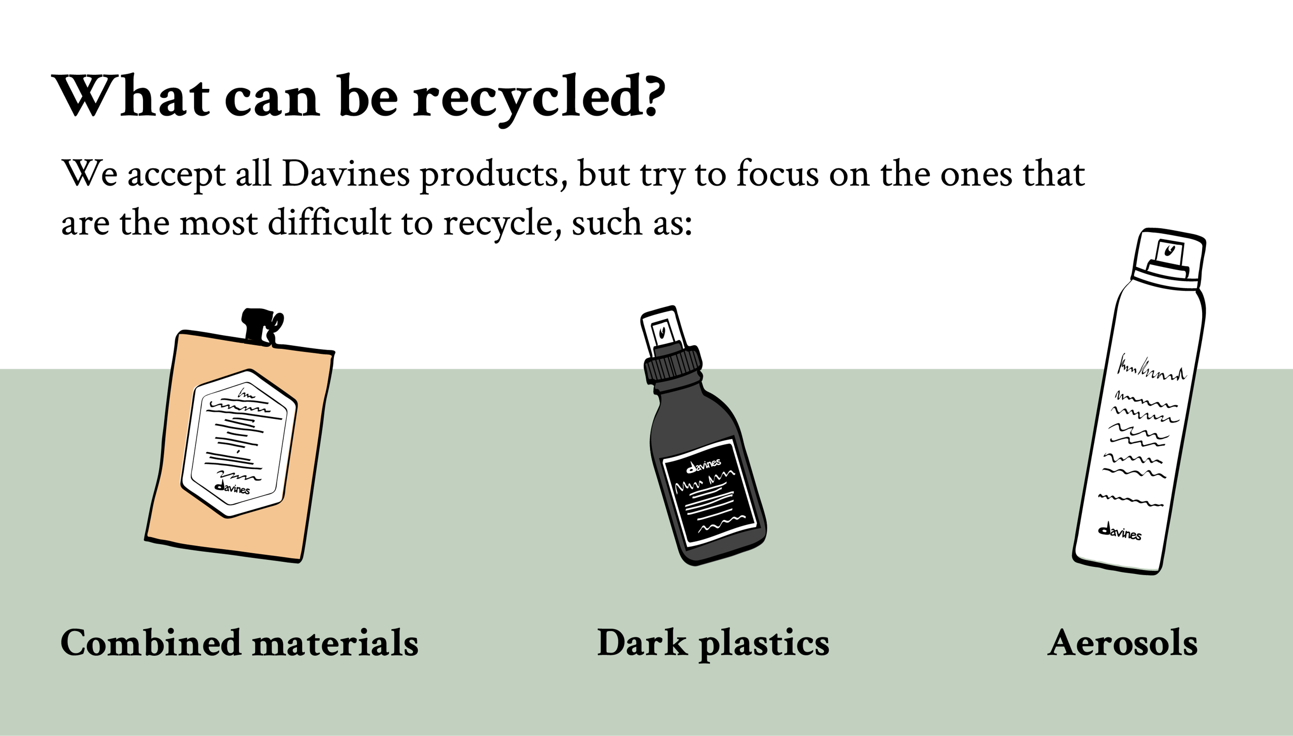difficult to recycle products Davines