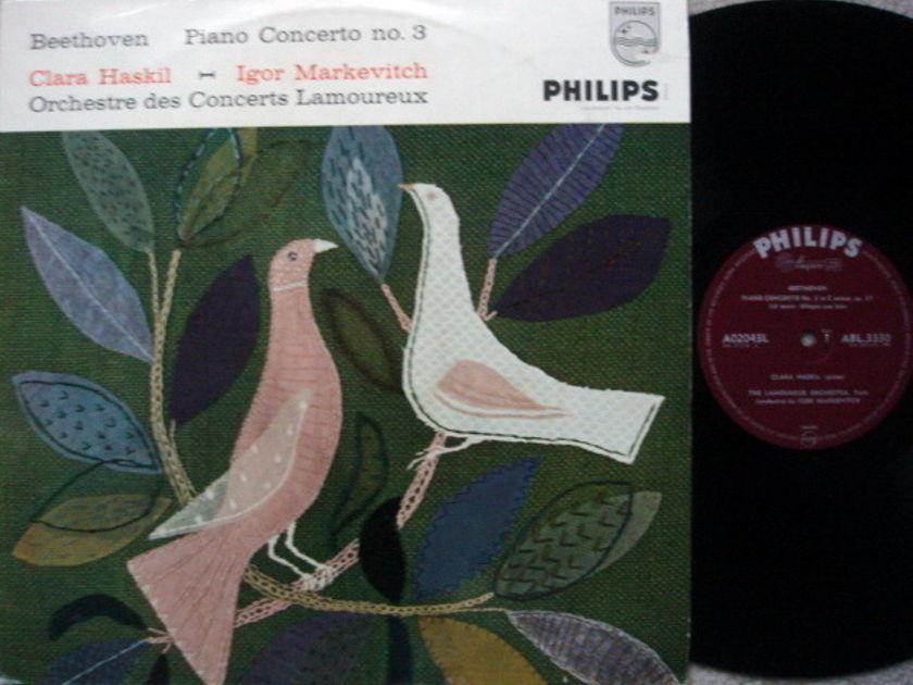 ★1st Press★ Philips UK / HASKIL-MARKEVITCH, - Mozart Piano Concerto No.3, NM!