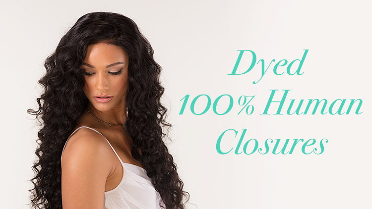 Dyed 100% Human Hair Closures