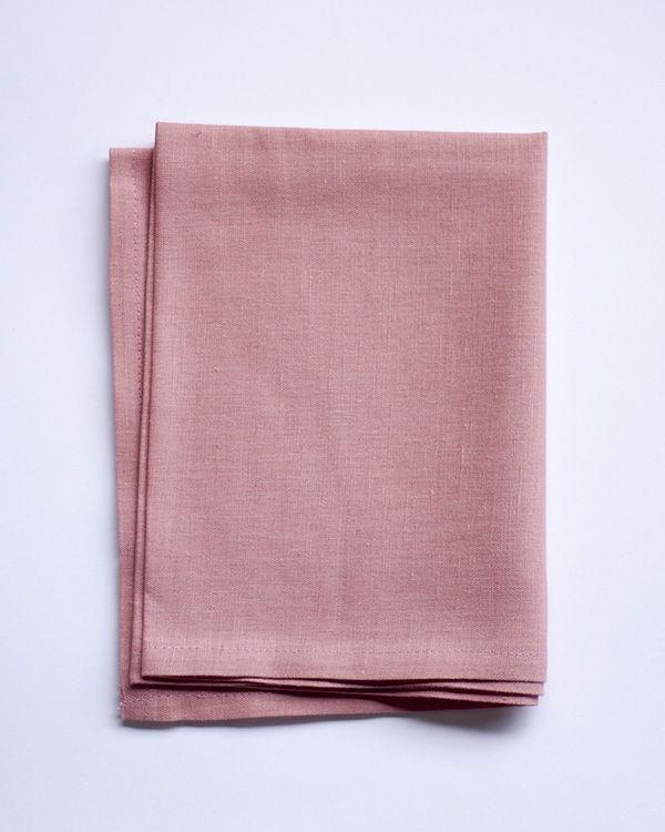 Льняное полотенце - Светло-розовый