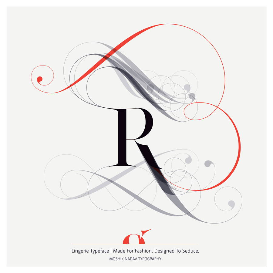 Lingerie Typeface uppercase R