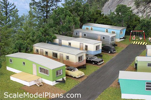 mobile home park from above