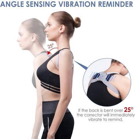 Smart Posture Corrector Brace With Intelligent Posture Tracking Sensor Technology
