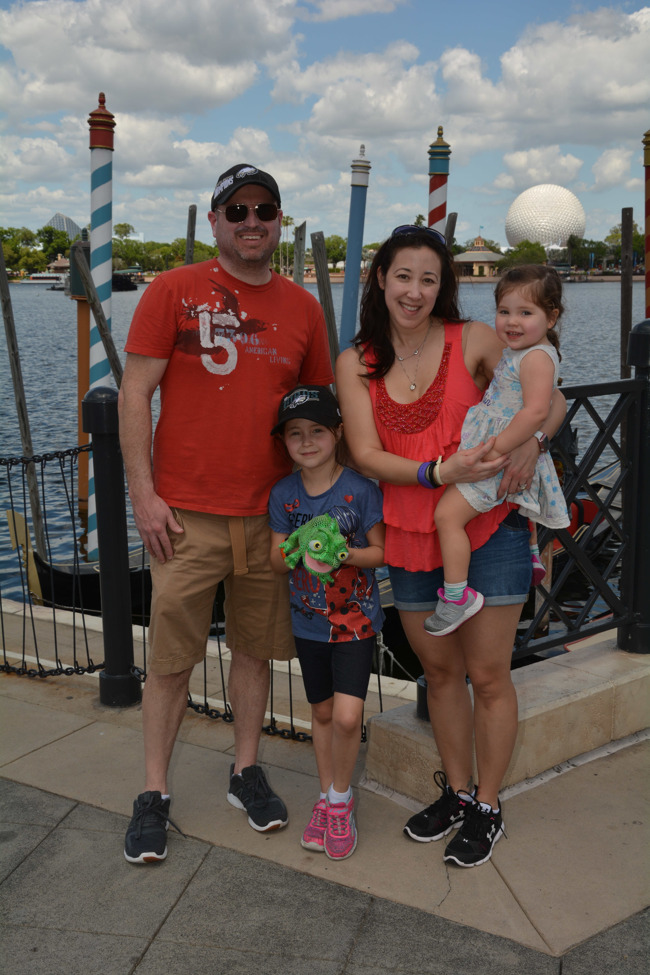 The Bosack family posed together at Disney