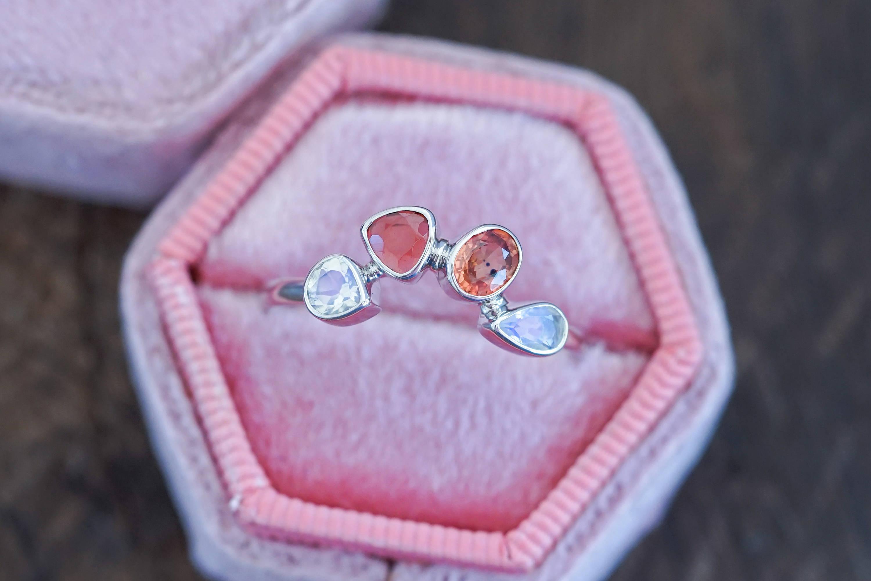 Custom ethical gold birthstone ring