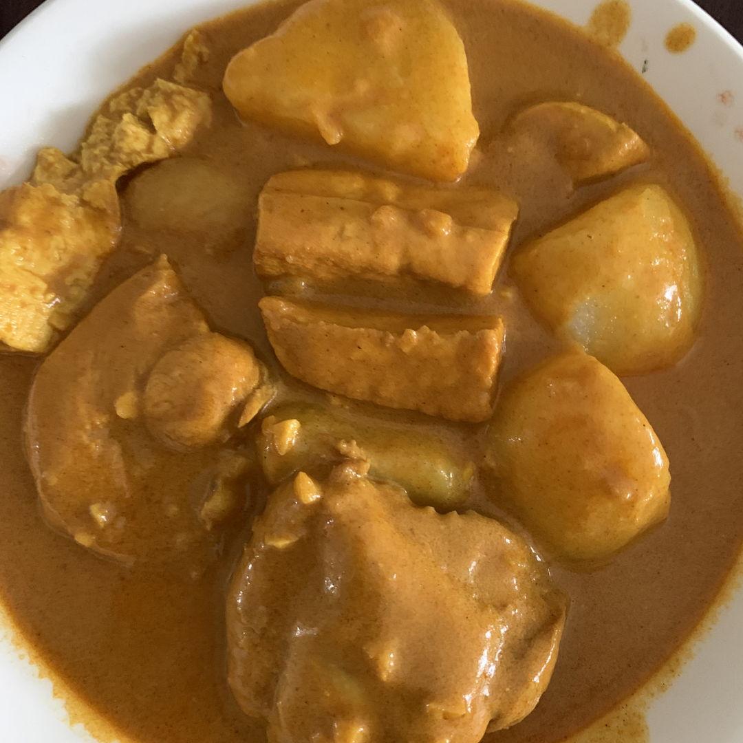 Curry chicken — first attempt