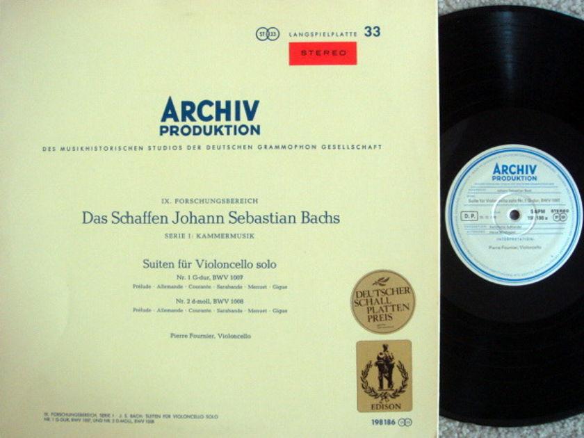 1st Press Archiv / FOURNIER, - Bach Suites for Cello Solo No.1 & 2, MINT!
