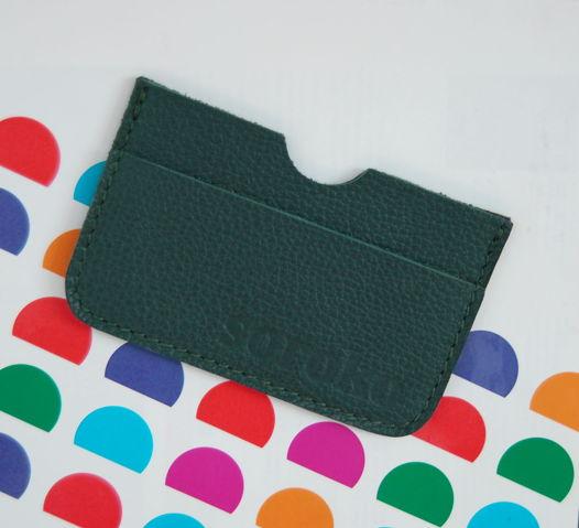 Зеленый кожаный холдер