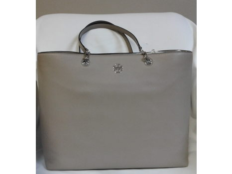 Tory Burch Grey Leather Tote