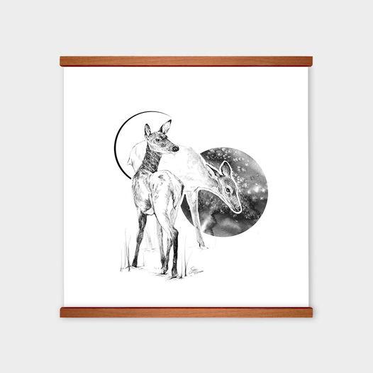 Постер «Black Deer Empire I» от Oh So Me (серия Home)