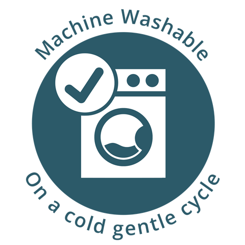 Machine-washable on cold, gentle cycle   A practical way to manage any dog mess.