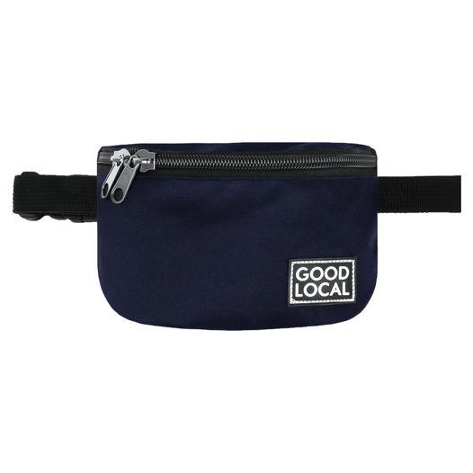 Синяя поясная сумка тканевая Good Local Banana  O/Zip Navy