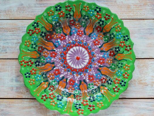 Керамическое блюдо (салатовый цвет)