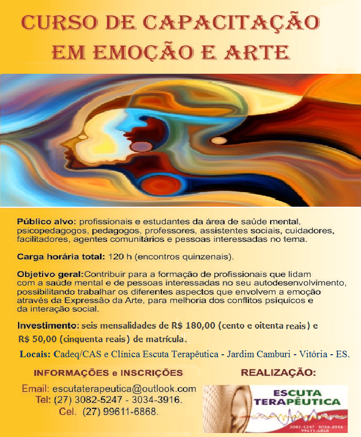 CURSO DE CAPACITAÇÃO EM EMOÇÃO E ARTE: MÓD.02 - DOENÇAS EMOCIONAIS E PSICOPATOLOGIAS
