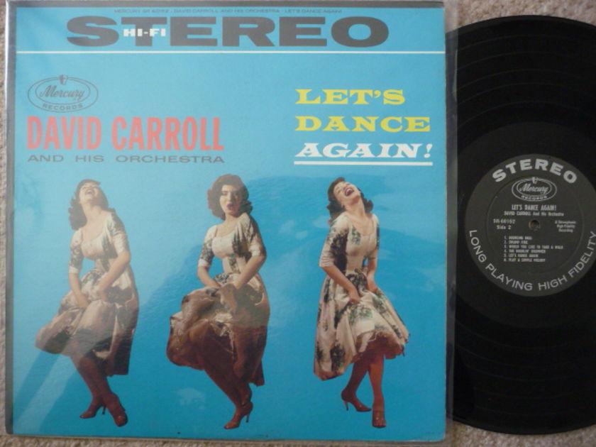 LET'S DANCE AGAIN  - DAVID CARROLL MERCURY LP AUDIOPHILE