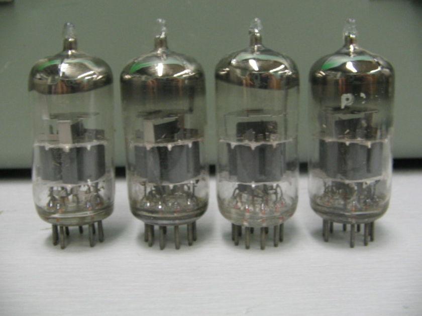 Amperex Bugle Boy Lab Grade  6DJ8 ECC88 Large Halo Getter matched pair 55 PPD