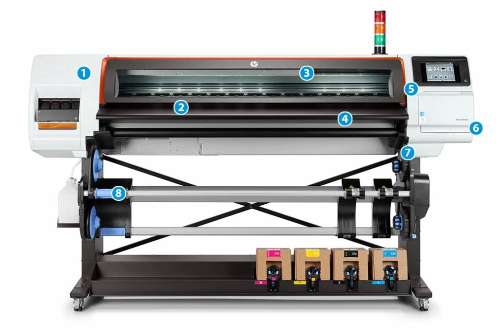 HP Stitch S500 Printer Part Front View