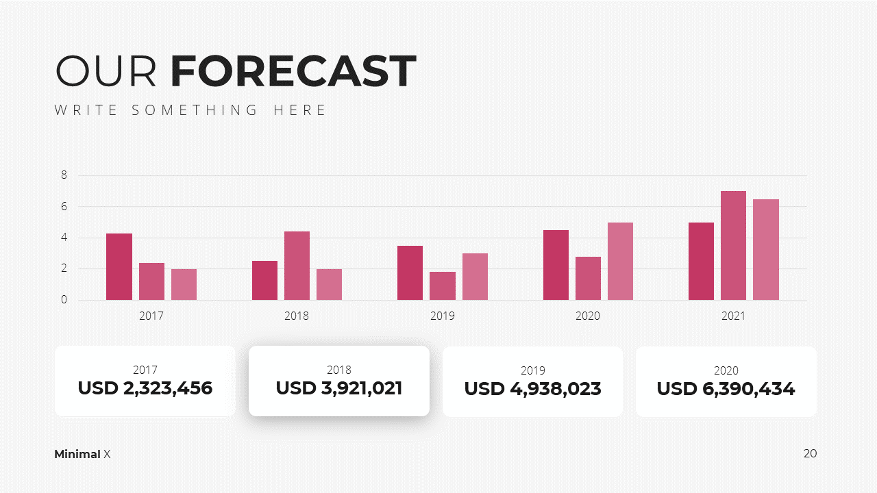 Minimal X Digital Marketing Proposal Presentation Template Forecast