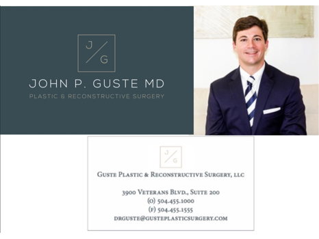 Guste Plastic Surgery Spa Services Gift Certificate