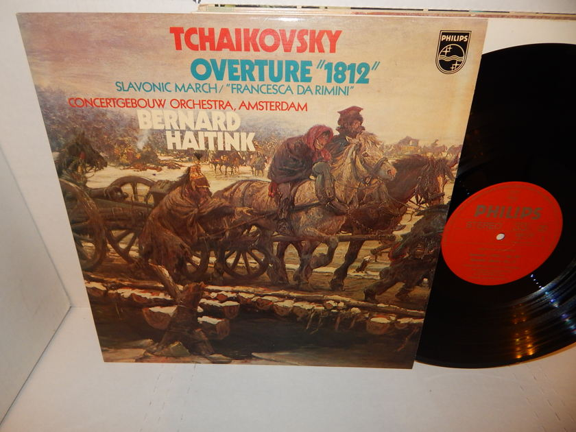 TCHAIKOVSKY Overture 1812 - Slavonic March BERNARD HAITINK Italy Import Philips Mint LP