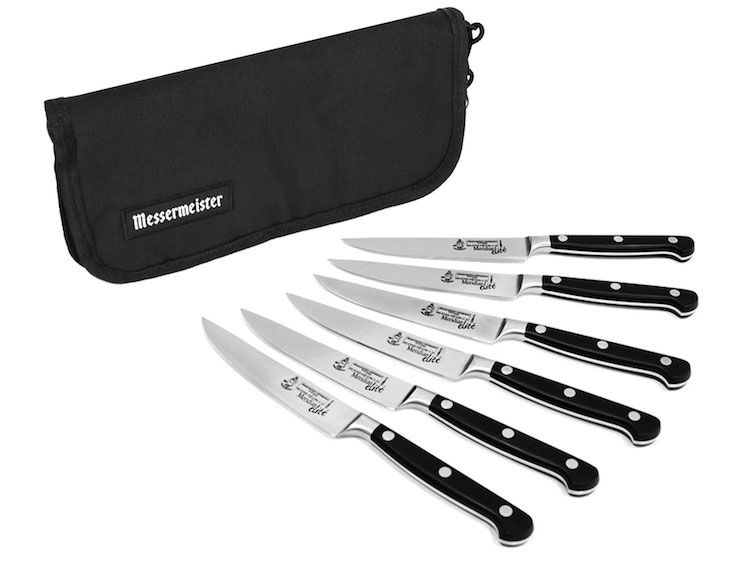 Messermeister Meridian Elite Steak Knife Set in Pouch