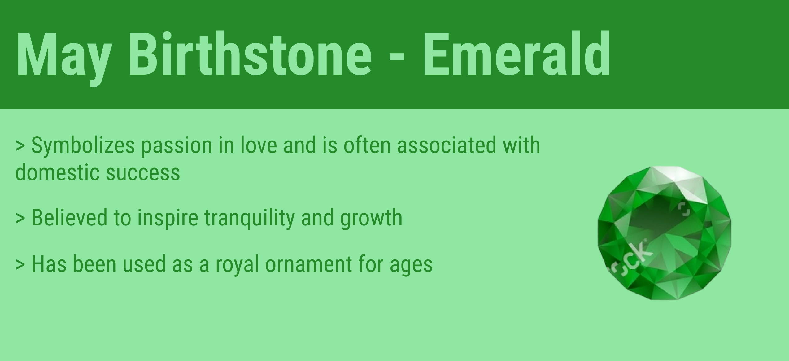 may birthstone quick facts
