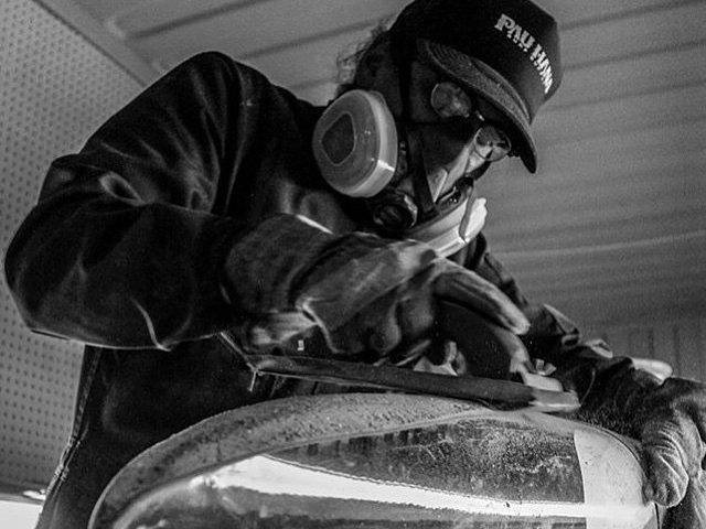 Todd Caranto Shaping Surfboards for Pau Hana's Innovative Stand up paddle Board line