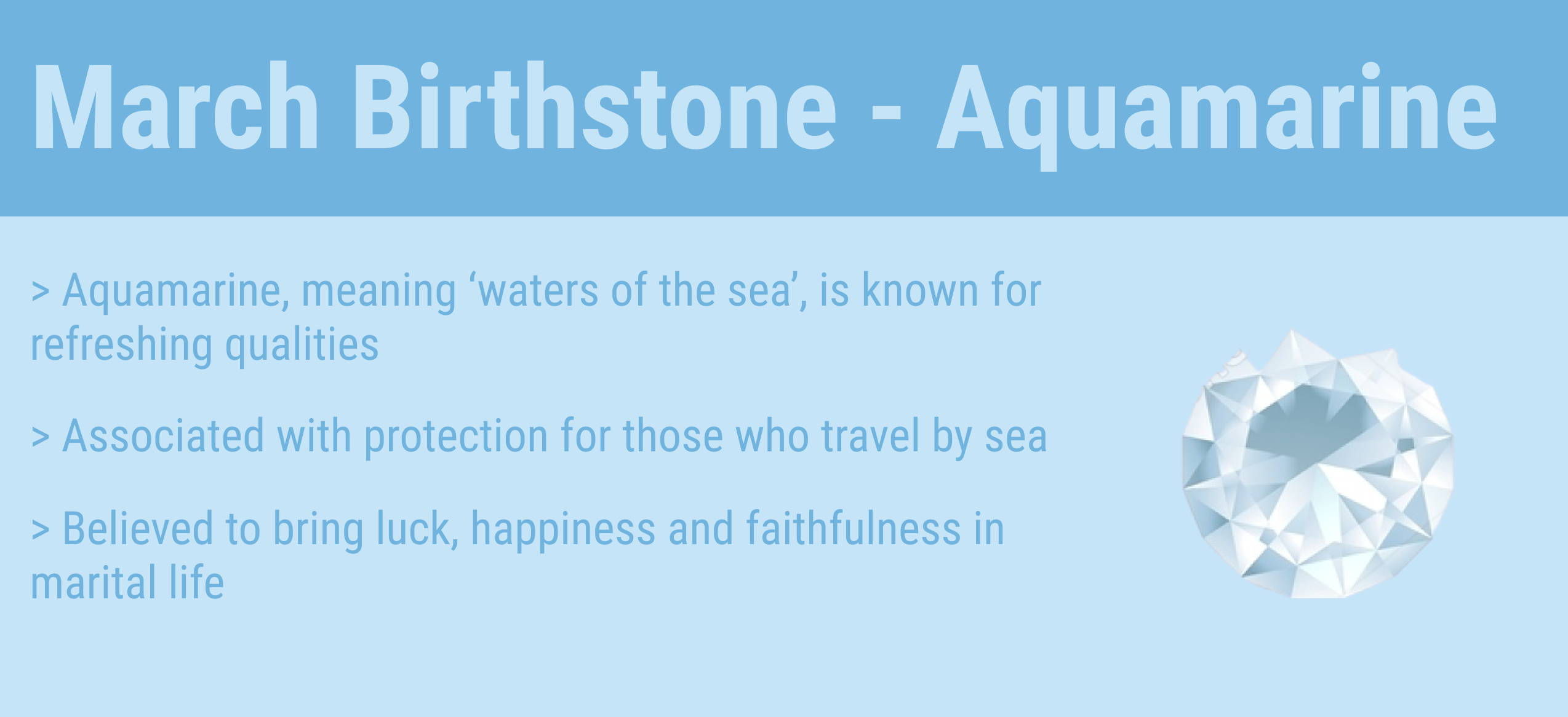 march birthstone quick facts