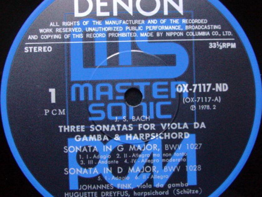 ★Audiophile★ Denon PCM / DREYFUS-FINK, - Bach 3 Sonatas for Viola Da Gamba & Harpsichord, MINT!