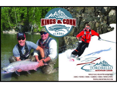 Kings & Corn at Tordrillo Mountain Lodge Alaska for Two with Olympic Downhill Champion Tommy Moe