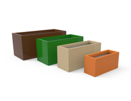 Tau Rectangulum Fiberglass Divider Planter 6280 by PureModern