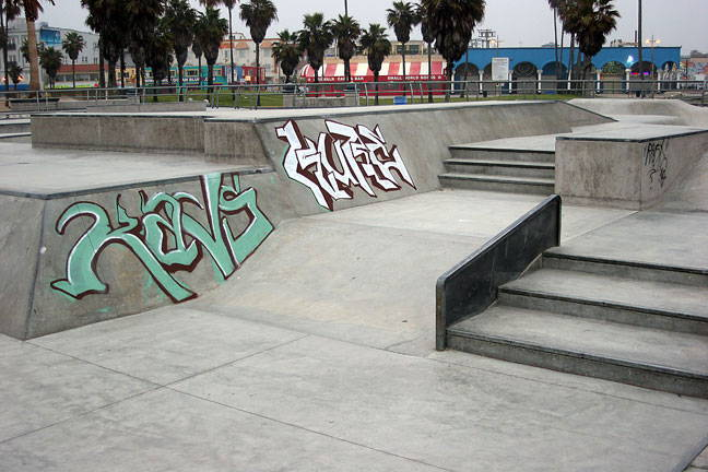 removing graffiti tags from skate park