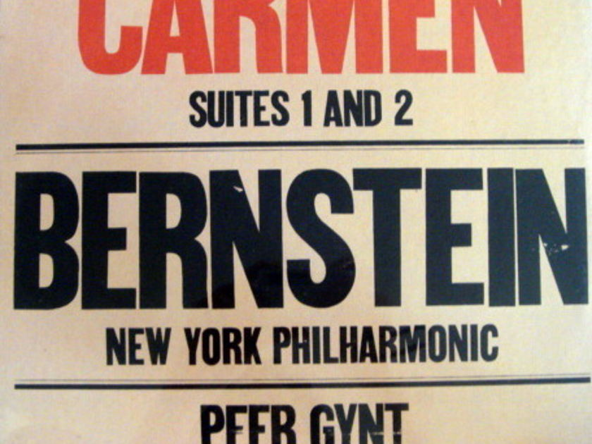 ★Sealed★ Columbia / BERNSTEIN, - Bizet Carmen Suite, Grieg Peer Gynt Suite!