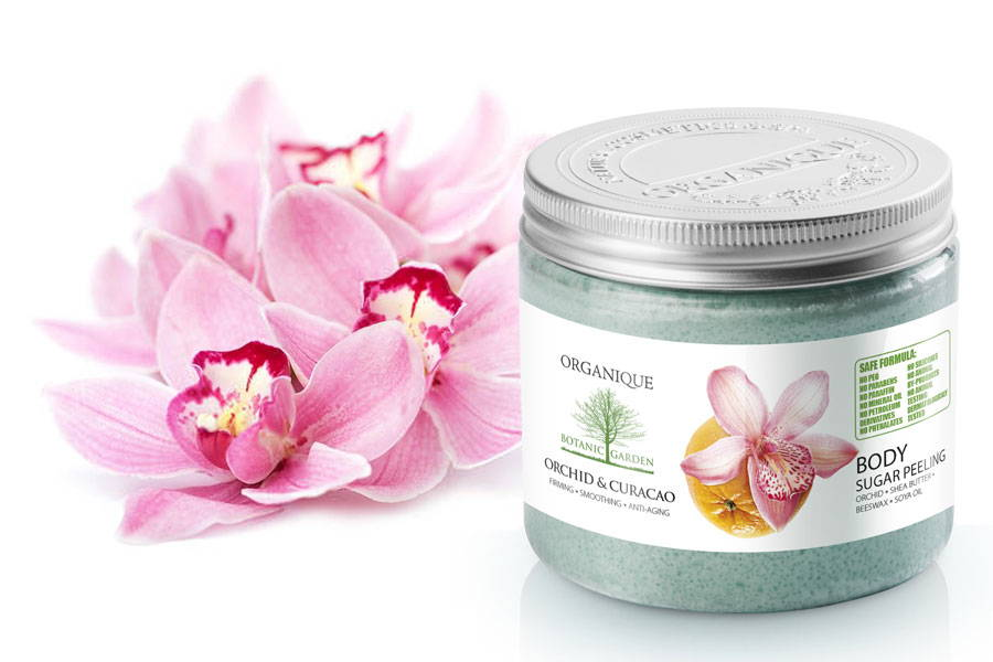 Smoothing Orchid And Curacao Sugar Body Peeling from Organique