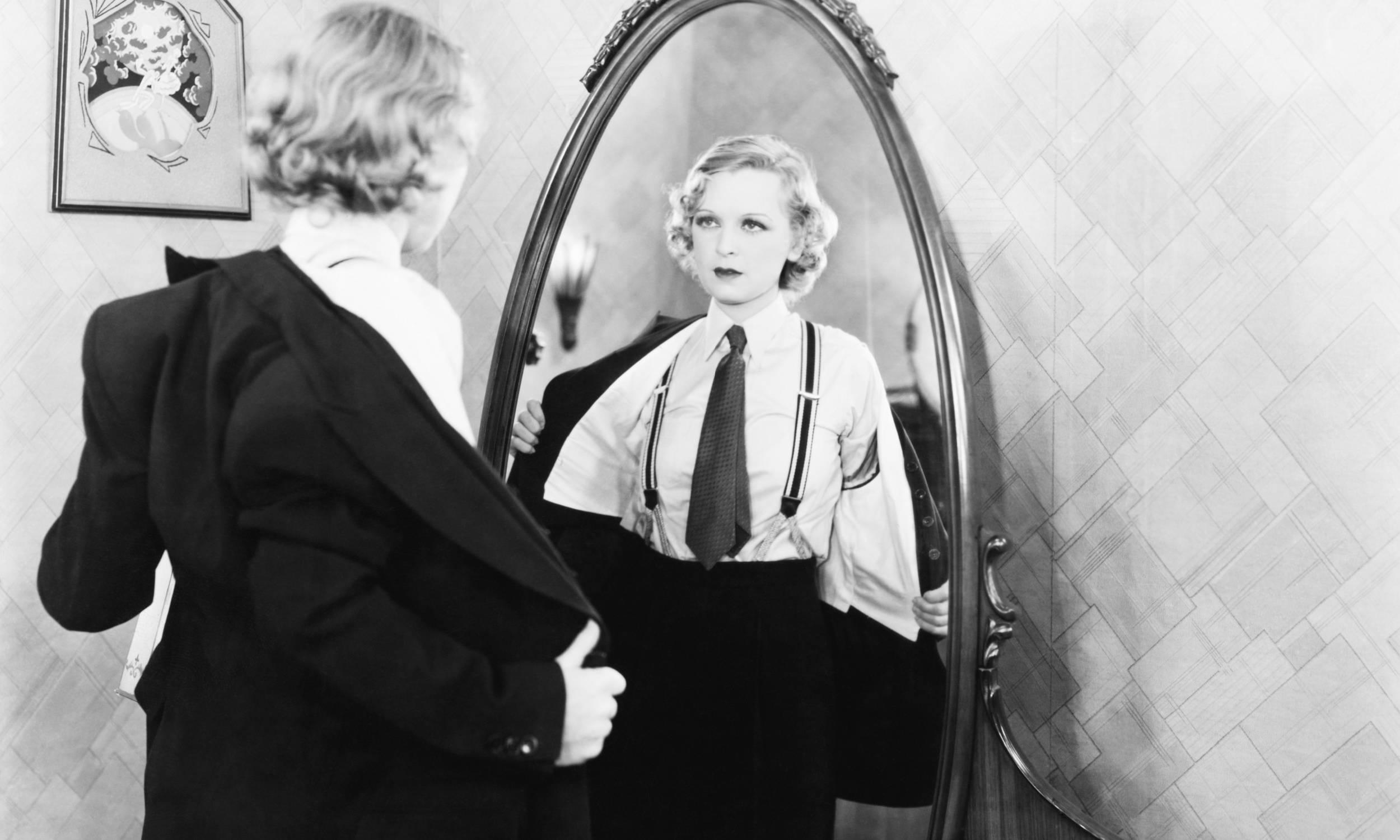 The History of Suspenders - Woman Wearing Suspenders
