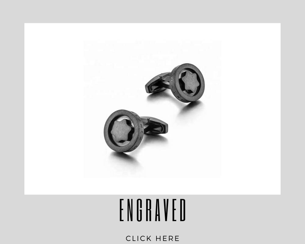 Corporate Custom Engraved Cufflinks