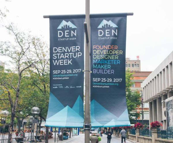 Signs & Banners - DEN Denver Startup Week Banners