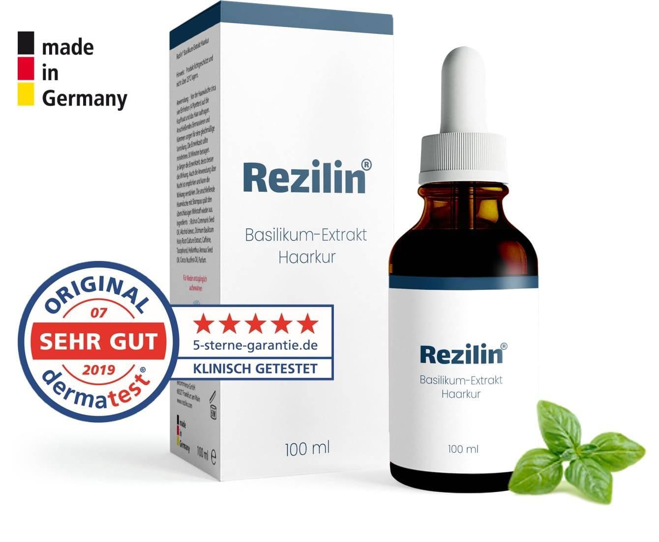 Rezilin Basilikum Extrakt gegen Haarausfall Test Erfahrung