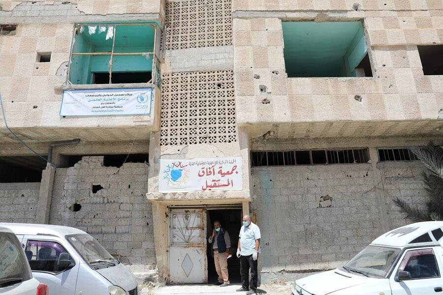 WFP office in a shelled building in Damascus