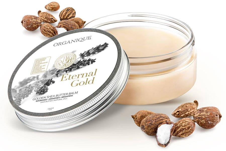 Exclusive Smoothing Shea Body Butter With luxury Gold Organique brand
