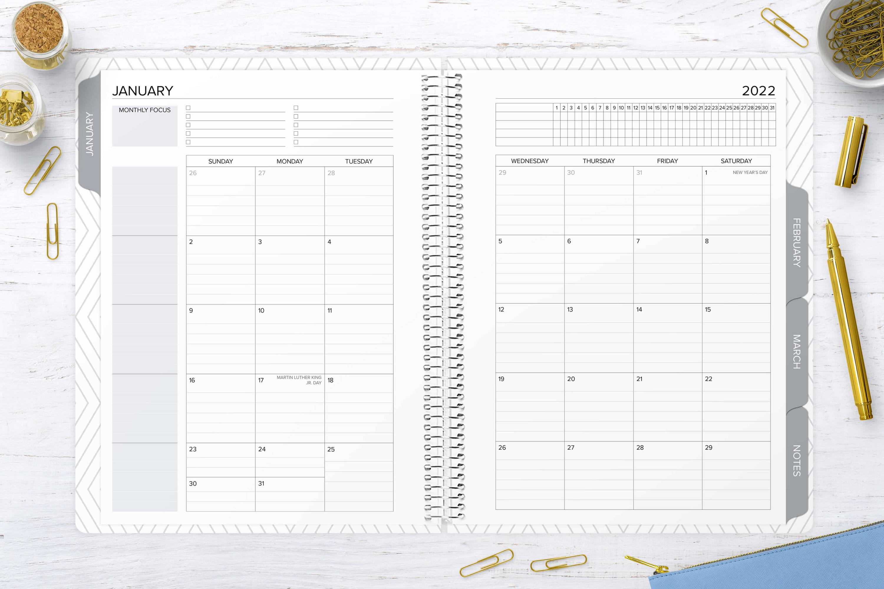 monthly planner layout amplify planner