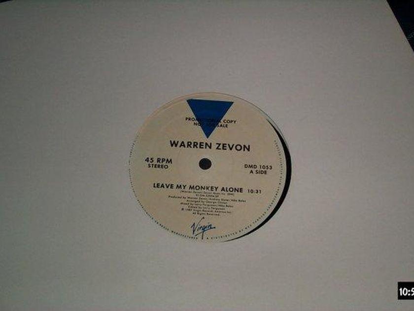 Warren Zevon - Leave My Monkey alone 12 inch promo 45rpm